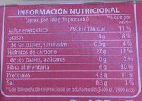 Arroz integral con quinoa, avena, trigo, centeno y cebada - Nutrition facts