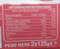 Arroz integral con quinoa - Informació nutricional - es