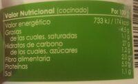 Arroz Campero con Pollo y Chorizo - Información nutricional - es