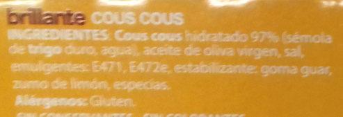 Cous Cous - Ingredients - es