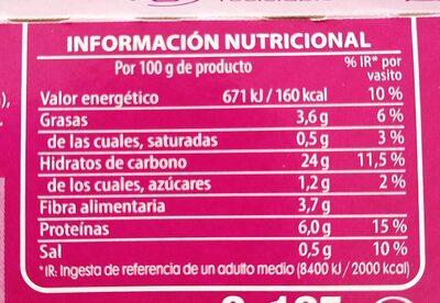 Quinoa blanca y roja - Informació nutricional - es