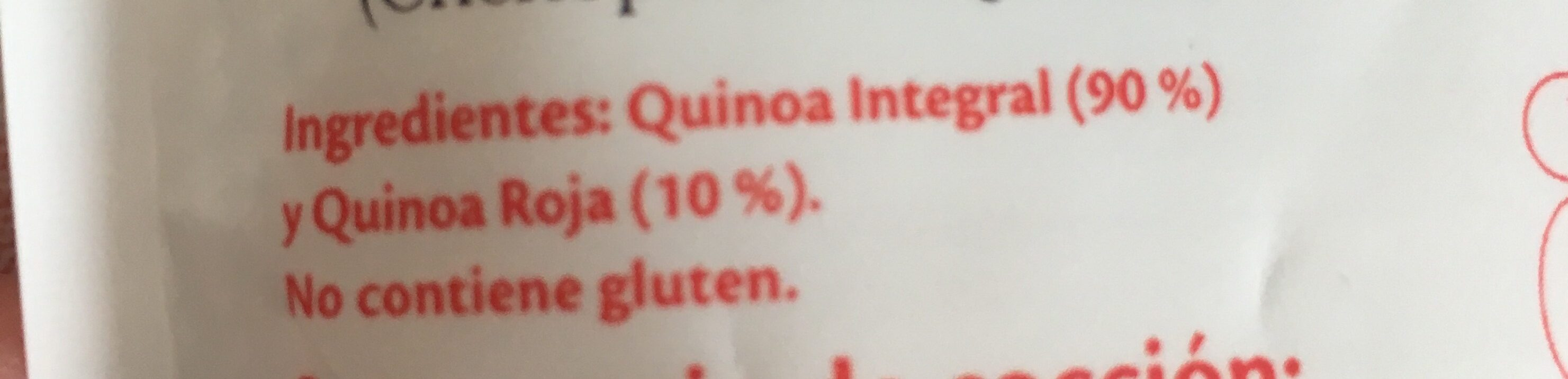 Quinoa Integral et rouge - Ingrediënten