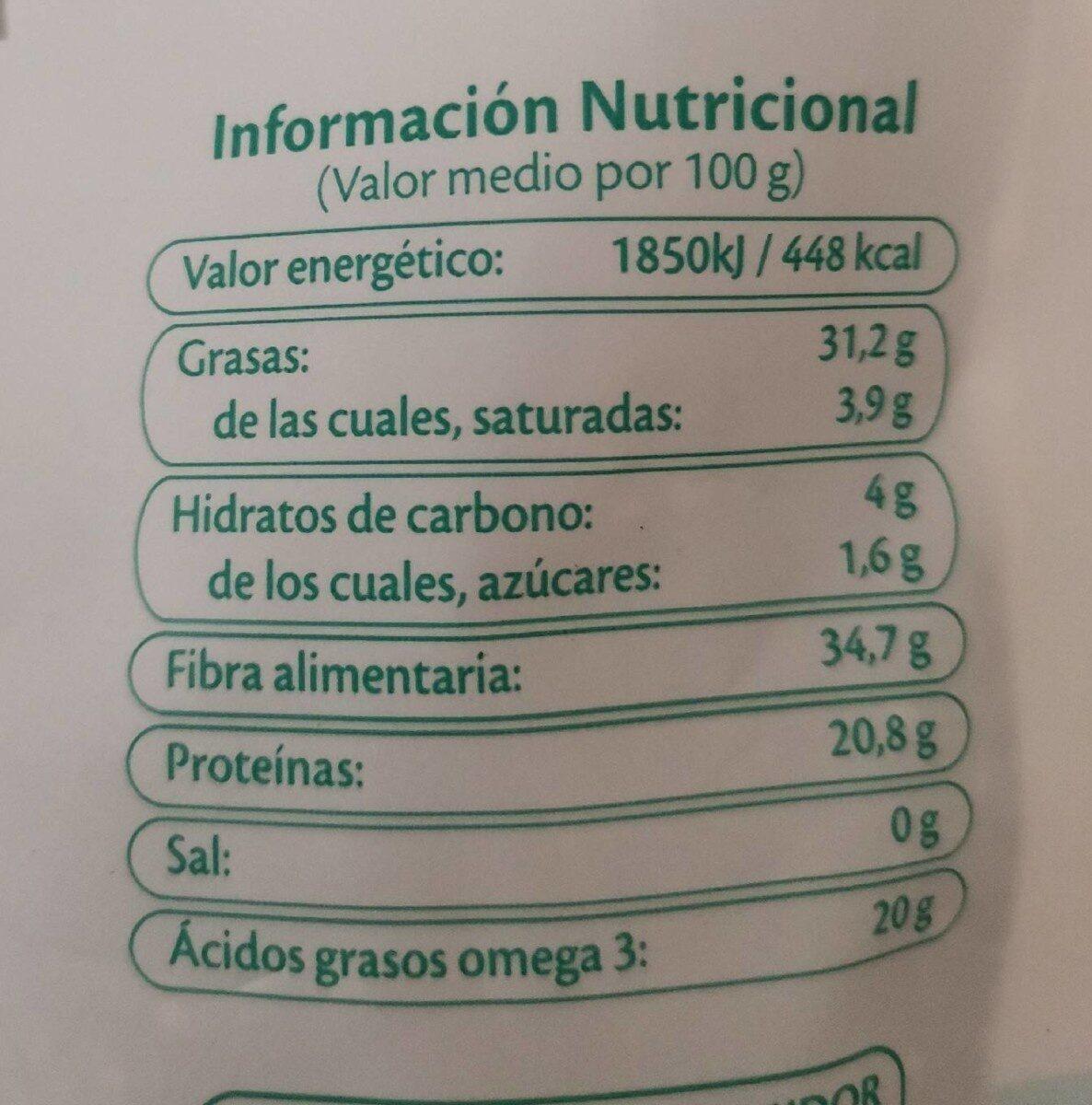 Chia - Informació nutricional - es