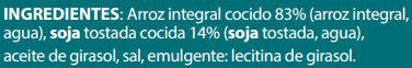 Arroz Integral con Soja - Ingrédients - es