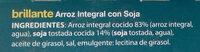 Arroz integral con soja - Ingredients - es