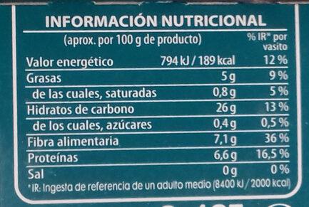 Arroz integral con soja - Nutrition facts - es