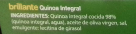 Brillante vasito de Quinoa Integral - Ingrédients - es