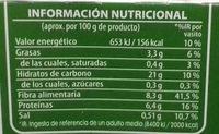 Brillante vasito de Quinoa Integral - Informations nutritionnelles - es