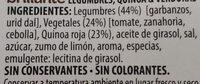 Benefit legumbres quinoa verduras - Ingrédients - es