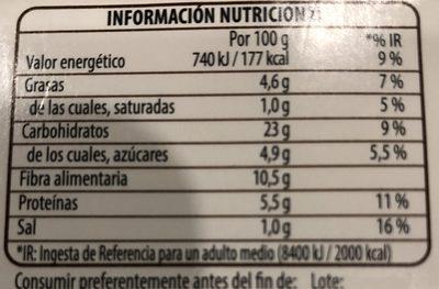 Benefit cous cous quinoa verduras - Informació nutricional - es