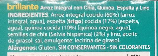 Arroz integral con chía, quinoa, espelta y lino - Ingredients
