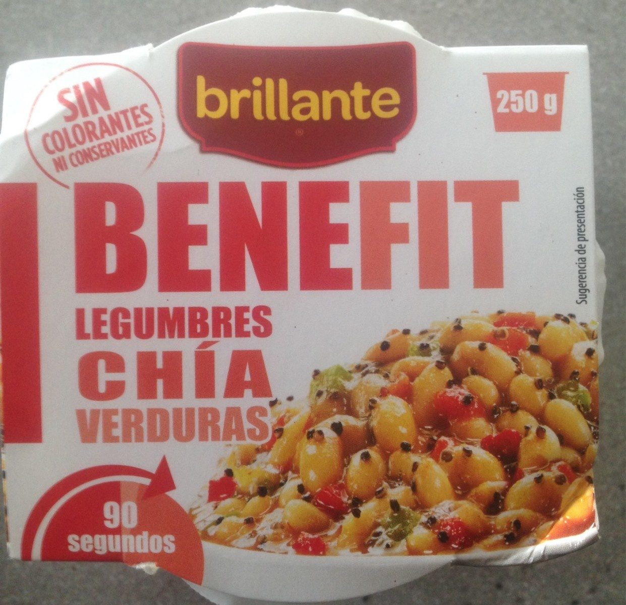 Benefit legumbres chía verduras - Produit - fr