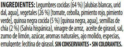Benefit legumbres chía verduras - Ingredients - es