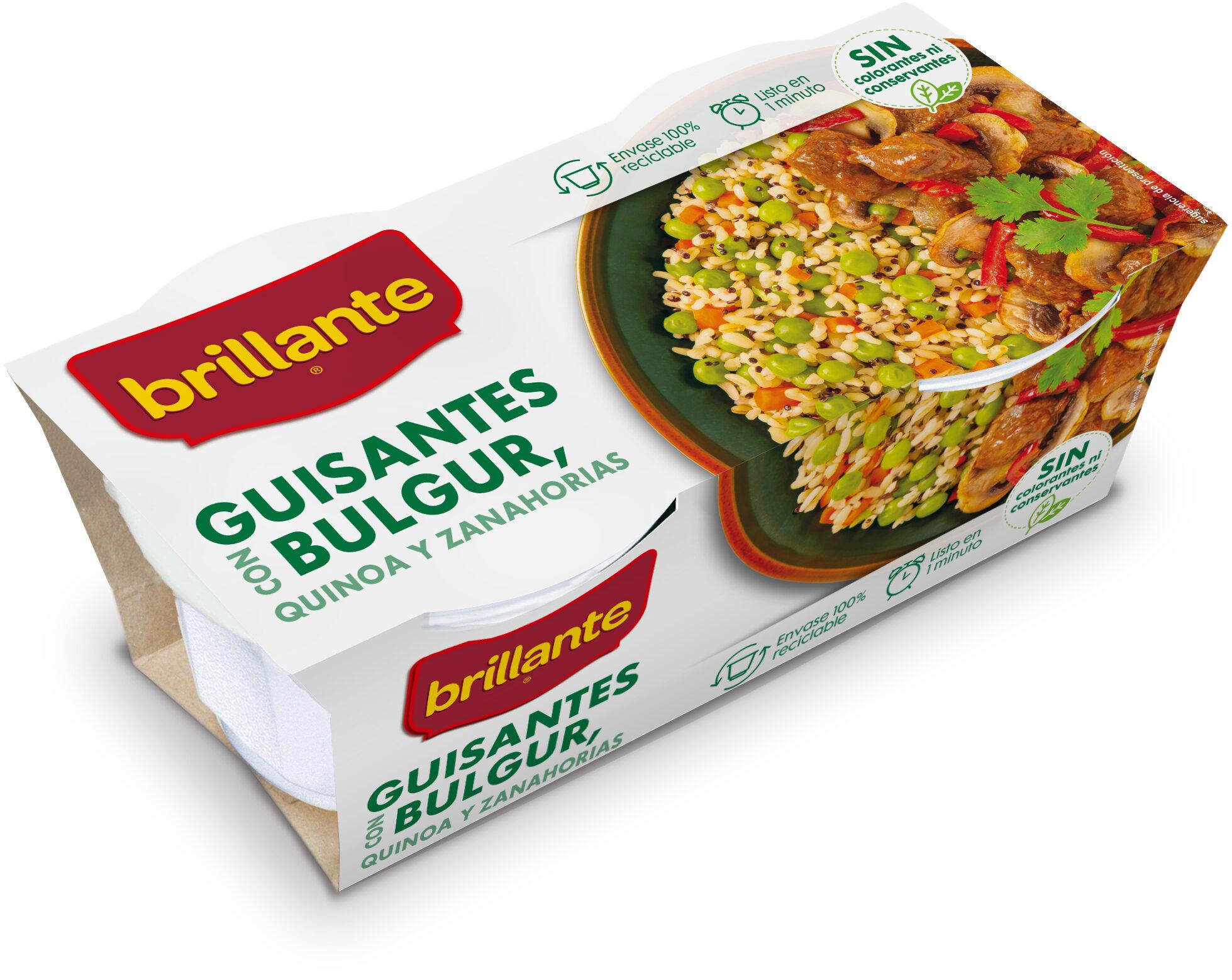 Brillante vasito de guisantes con Bulgur, Quinoa y Zanahorias - Producto - es