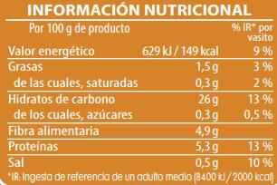 Brillante vasito de Bulgur - Información nutricional - es