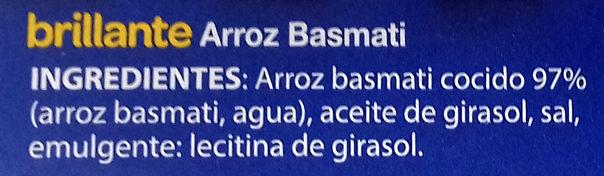 Arroz Basmati - Ingredientes