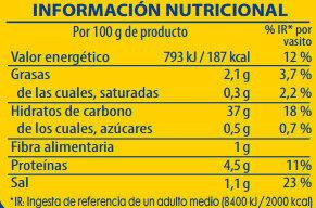 Vasito de arroz al curry - Informations nutritionnelles - es