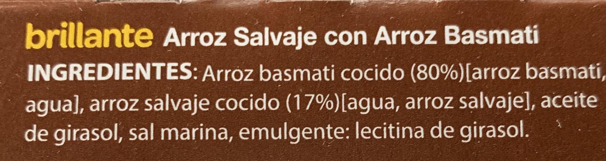 Arroz basmati salvaje cocido para guarnición pack 2 envases 125 g - Ingredientes