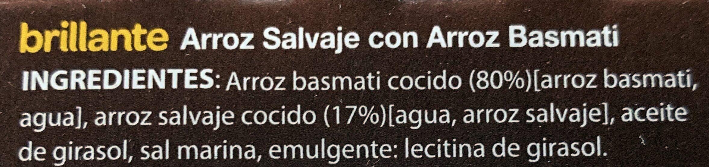 Arroz salvaje con arroz basmati - Ingredients - es