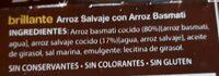 Arroz salvaje con arroz basmati - Ingrédients - fr