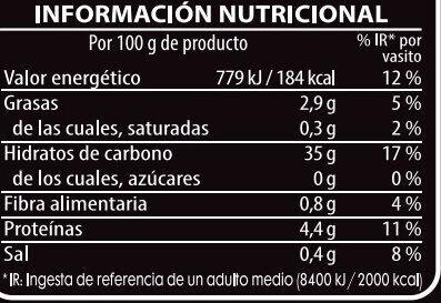 Arroz salvaje con arroz basmati - Nutrition facts - es