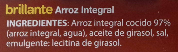 Arroz Integral - Ingrédients