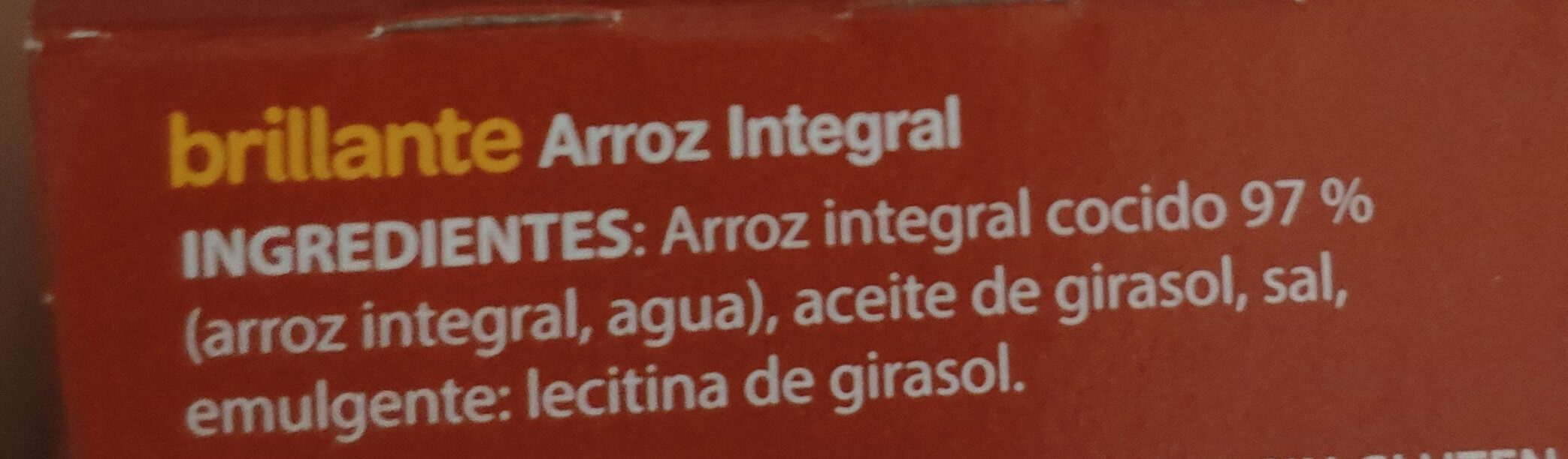Brillante Arroz integral - Ingrédients - es