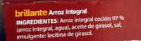 Arroz integral - Ingredients - es