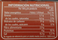 Brillante Arroz integral - Informations nutritionnelles - es