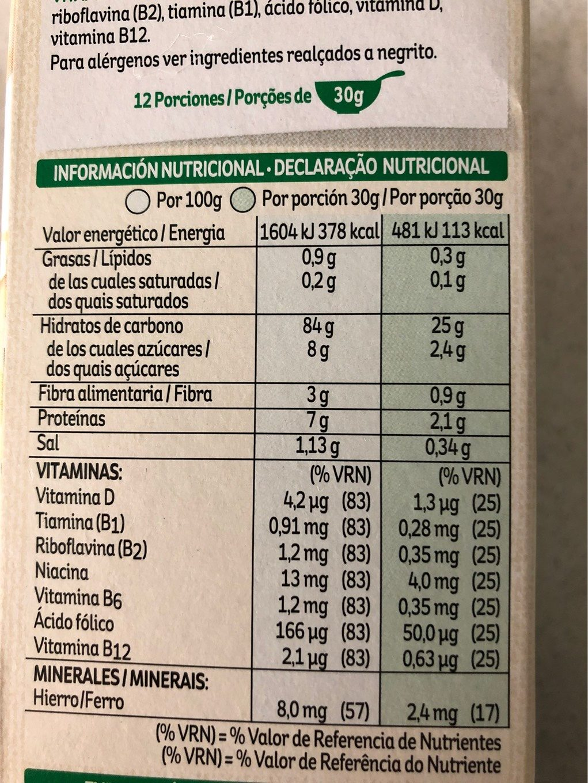 Corn Flakes De Kellogg's Cereales Original - Voedingswaarden - es