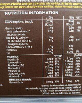 Kellogs Choco KRIS.375 - Voedingswaarden - es