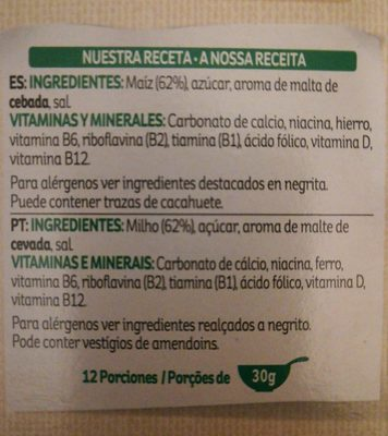Frosties kellogg 39 s 375 g for Ingredientes franceses