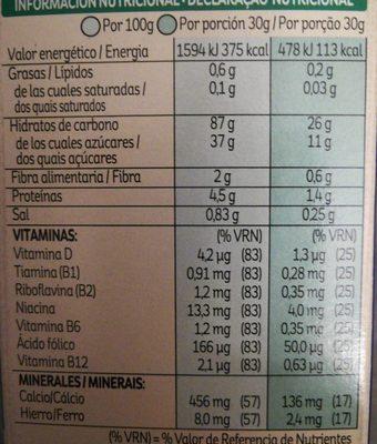 Frosties - Voedingswaarden - es
