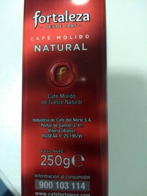 Café molido natural - Ingrédients