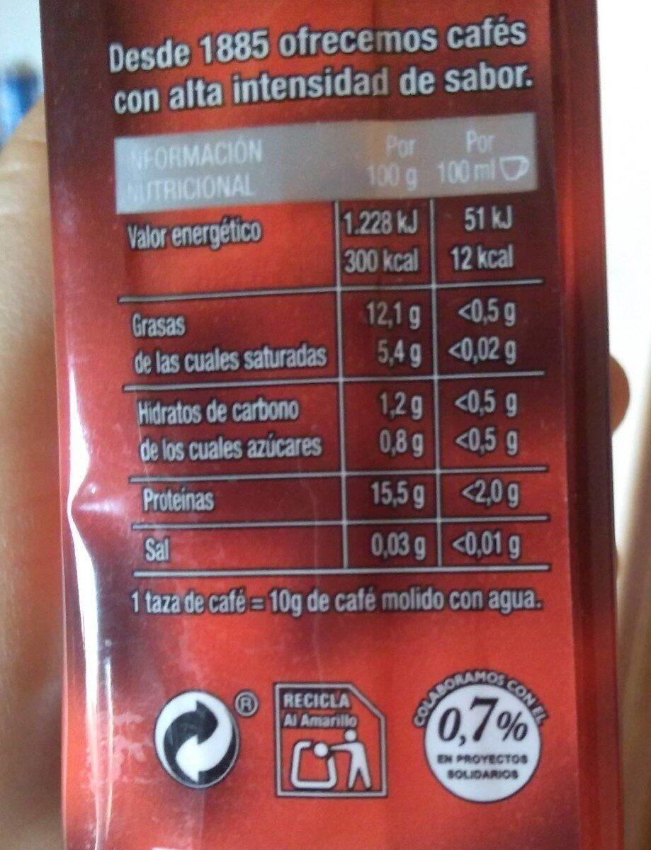 Café molido natural - Información nutricional - es