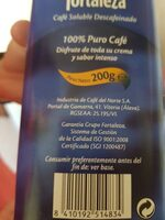 Café soluble descafeinado - Nutrition facts