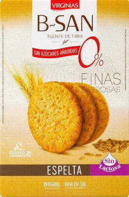 B-san galletas integrales finas de espelta bajas - Product - es