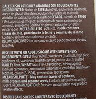 B-SAN Virginias - Ingredientes