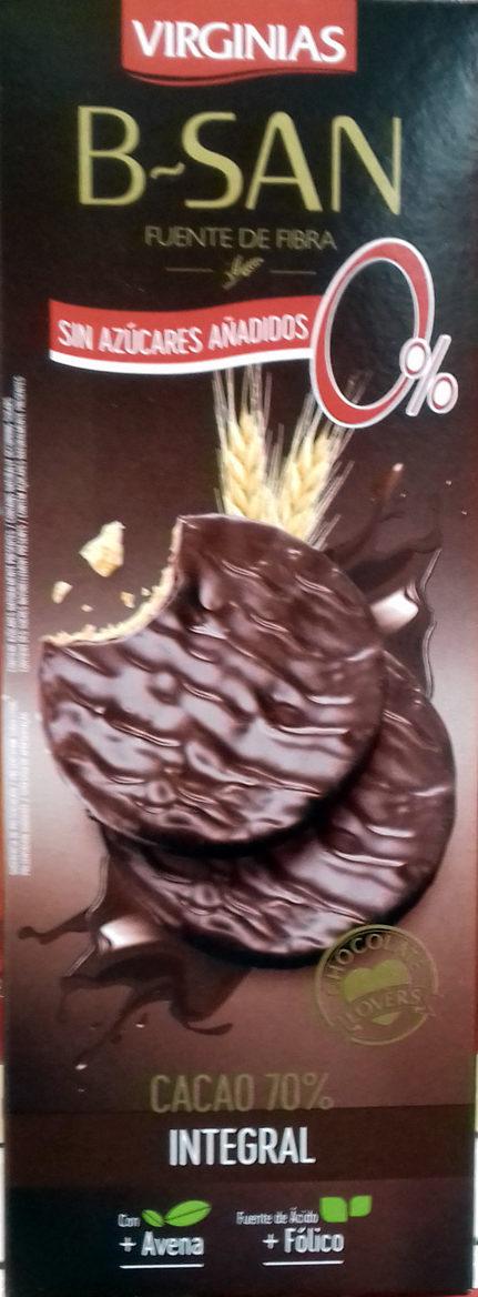 Galletas B-SAN Integral Chocolate sin azúcares añadidos - Producto - es