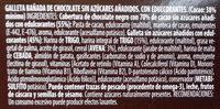 Galletas B-SAN Integral Chocolate sin azúcares añadidos - Ingredientes - es