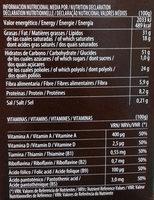Galletas B-SAN Integral Chocolate sin azúcares añadidos - Información nutricional - es