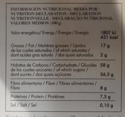Turrón mazapán frutas - Informació nutricional