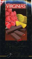 Mini tabletas de chocolate negro rellenas con naranja y frambuesa - Producto