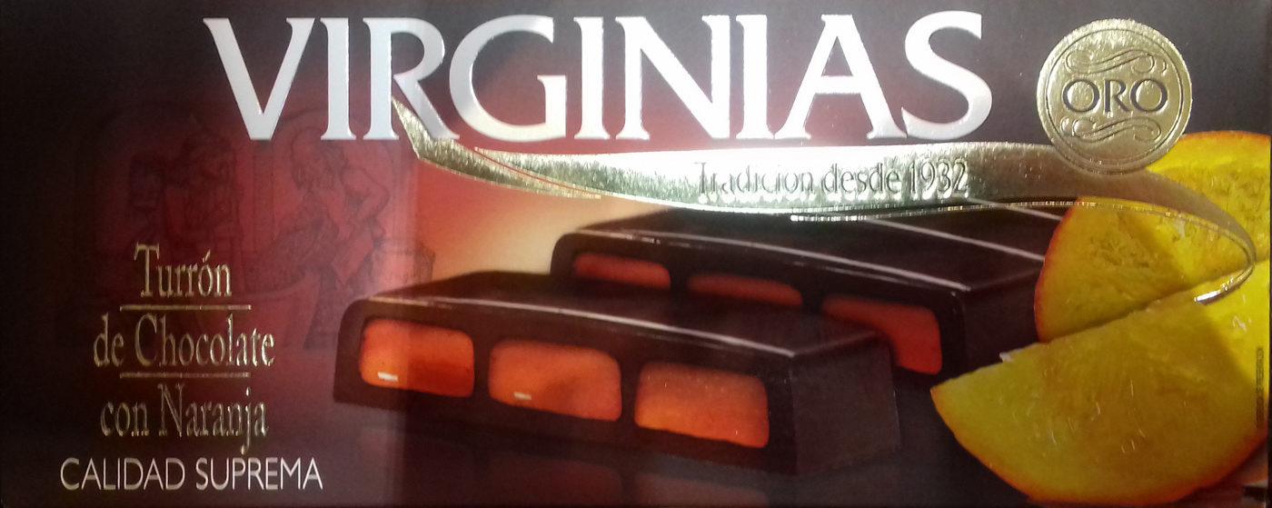 Turrón de chocolate con naranja - Producto - es
