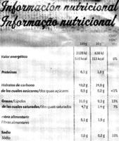 Patatas fritas lisas artesanas - Nutrition facts - es