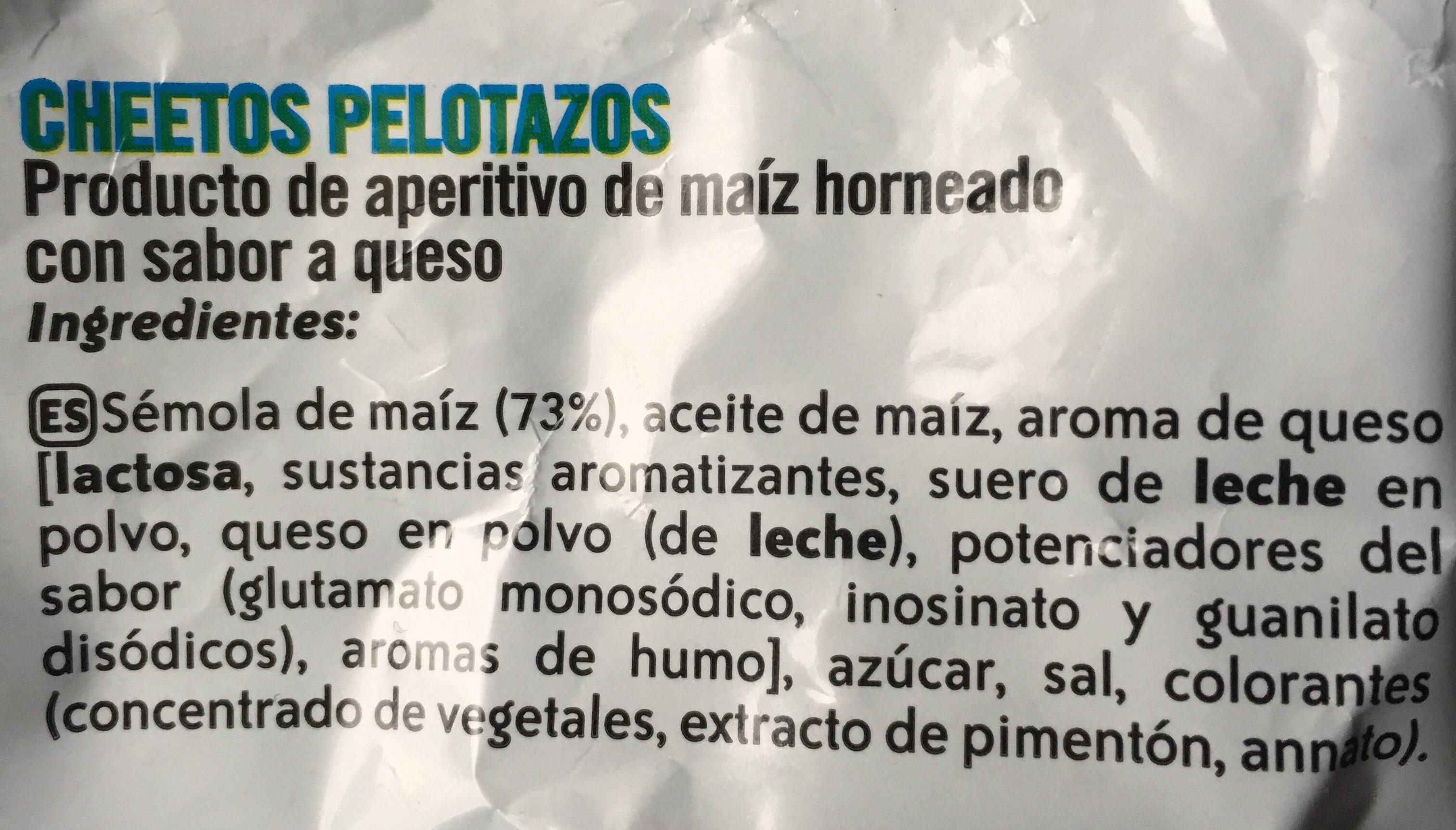 Pelotazos - Ingredientes - es