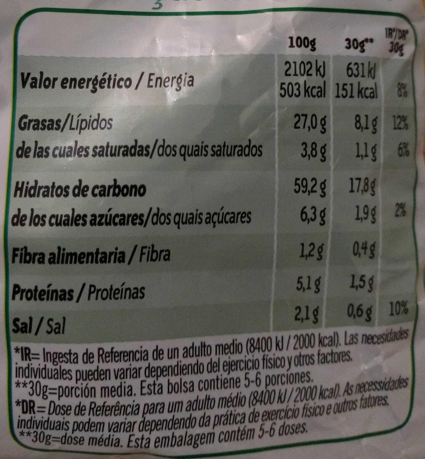 Pelotazos - Información nutricional - es