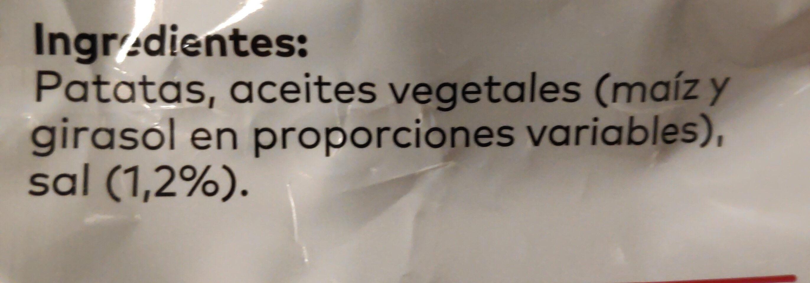 Patatas fritas al punto de sal Sin Gluten bolsa 170 g - Ingredients - es