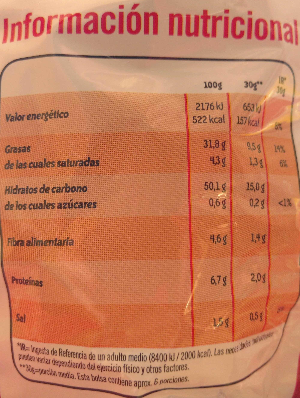 Patatas fritas Al punto de sal - Informations nutritionnelles
