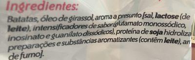 Ruffles sabor jamón - Ingredients